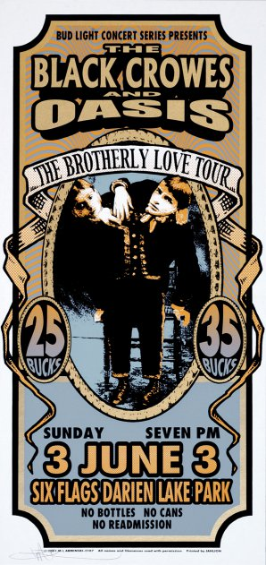 Brotherly Love Tour, Black Crowes, Oasis