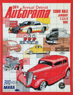 34th Annual Detroit Autorama Vintage Poster