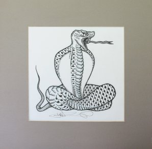 Original line art for Detroit Cobras Poster