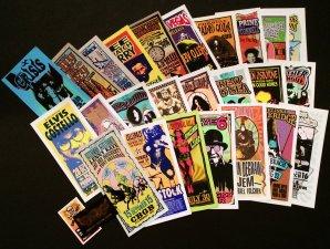 25 Original Concert Handbills