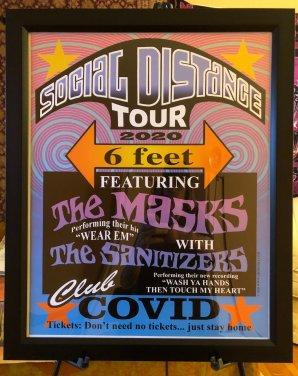 Social Distance Tour Poster – Fundraiser