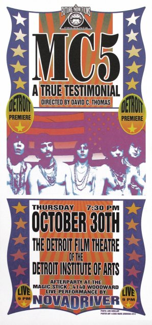 MC5, A True Testimonial, Detroit Premiere