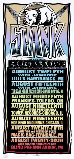 Spank on the Run, Tour Poster