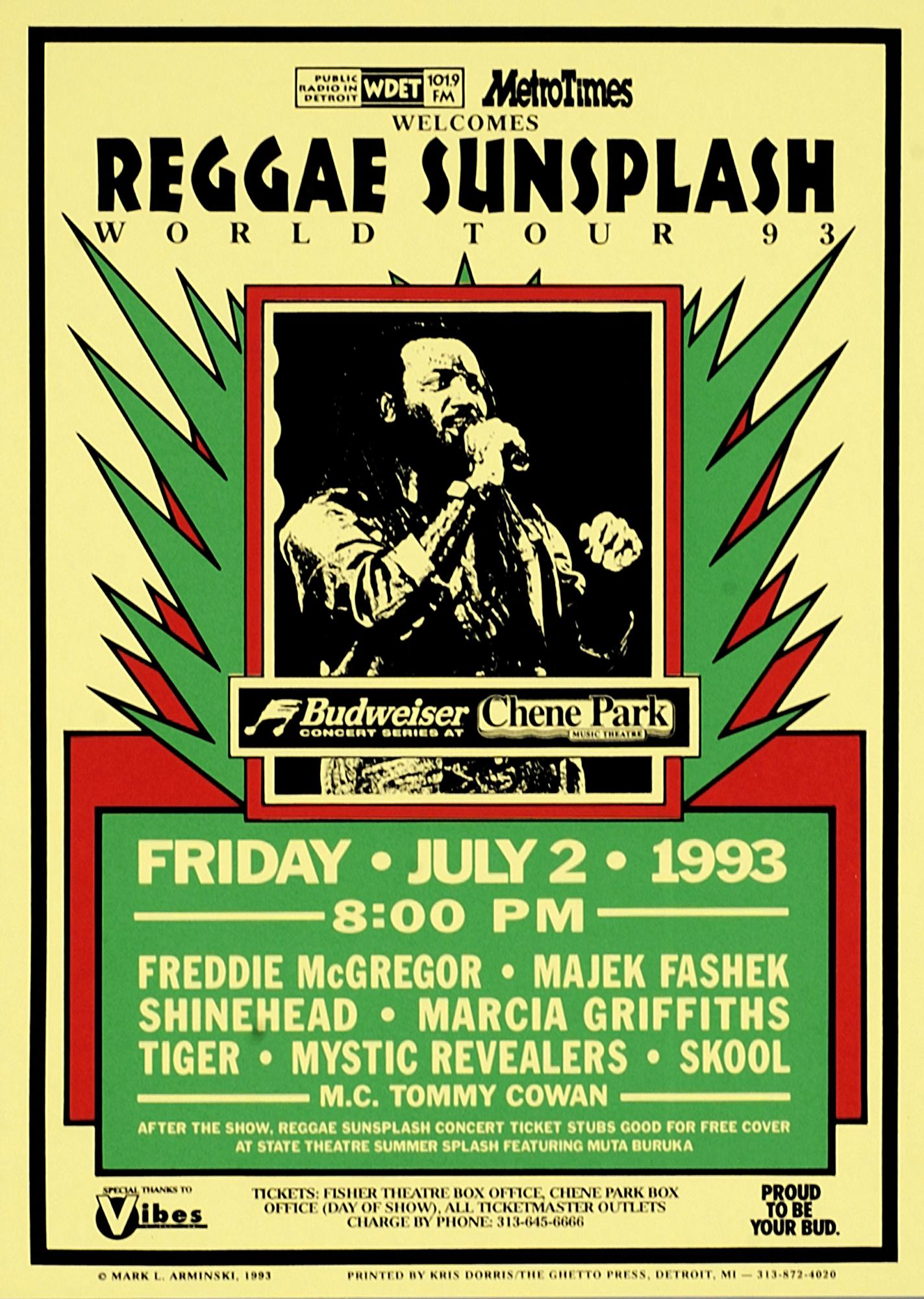 Reggae Sunsplash Reggae Sunsplash World Tour 93 Mark Arminski